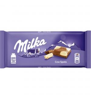 Ciocolata Milka cu lapte si ciocolata alba 100g