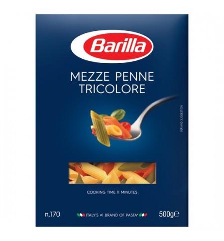 Paste Barilla Mezze Penne Tricolore